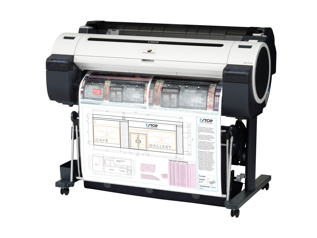 Canon Ploter iPF770 36 printer A0, LAN